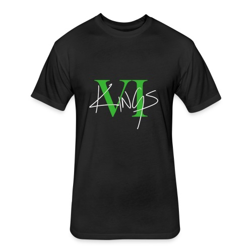 VI Kings Green/White - Fitted Cotton/Poly T-Shirt by Next Level