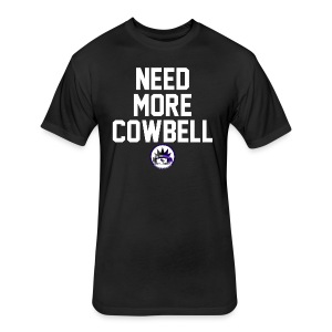 Need More Cowbell CK Collection in White Letters - Fitted Cotton/Poly T-Shirt by Next Level