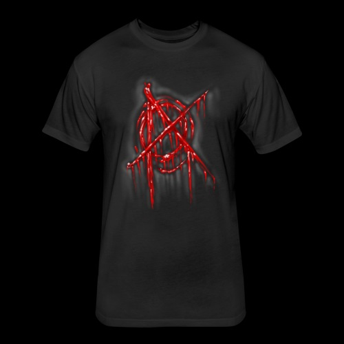 Anarchy In the flesh - Fitted Cotton/Poly T-Shirt by Next Level