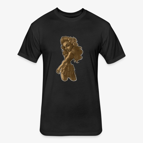 Brown Beauty - Fitted Cotton/Poly T-Shirt by Next Level