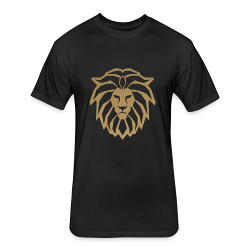 lion head gold - Fitted Cotton/Poly T-Shirt by Next Level