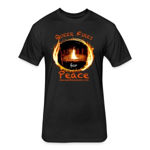 Queer Fires for Peace - Fitted Cotton/Poly T-Shirt by Next Level