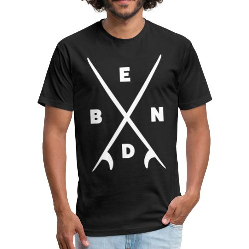 Bend Oregon Surf Board T-Shirt - Fitted Cotton/Poly T-Shirt by Next Level