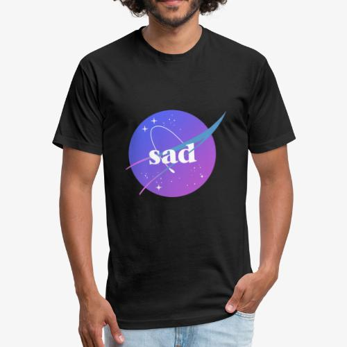 sad - Fitted Cotton/Poly T-Shirt by Next Level