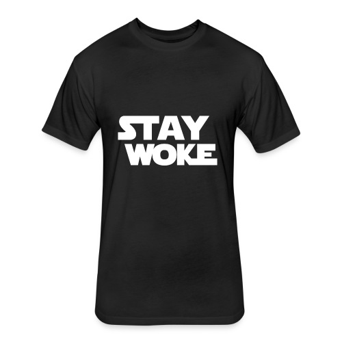 Stay Woke - Fitted Cotton/Poly T-Shirt by Next Level
