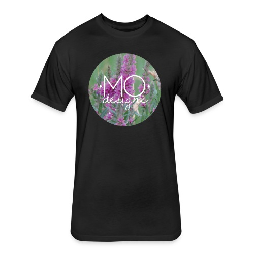 •MO• designs Purple Logo - Fitted Cotton/Poly T-Shirt by Next Level