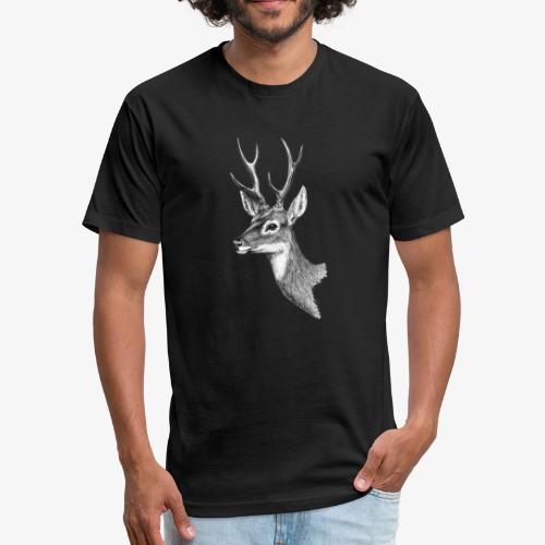 Wild Deer - Fitted Cotton/Poly T-Shirt by Next Level