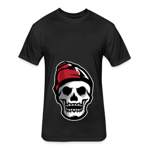 Custom Skull With Ice Cap Merch! - Fitted Cotton/Poly T-Shirt by Next Level