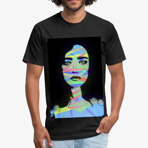 Crystal Color Girl - Fitted Cotton/Poly T-Shirt by Next Level