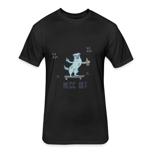 Doggo- hecc off - Fitted Cotton/Poly T-Shirt by Next Level