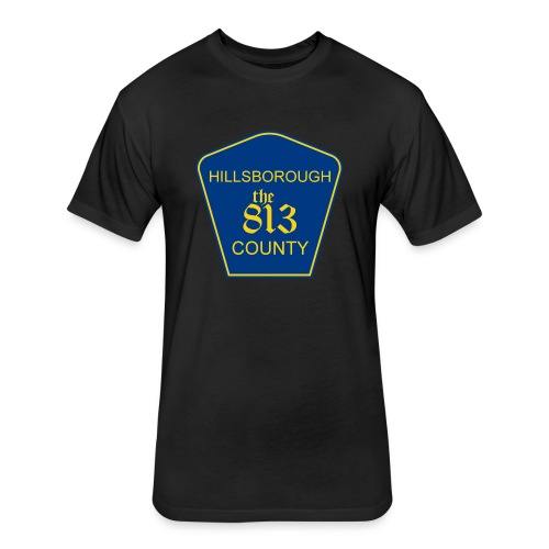Hillsborough the813 County - Fitted Cotton/Poly T-Shirt by Next Level