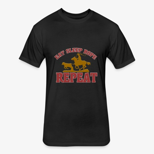 Eat Sleep Rope Repeat - Fitted Cotton/Poly T-Shirt by Next Level