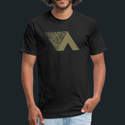 Ahmed Romel Gold Calli Full - Fitted Cotton/Poly T-Shirt by Next Level