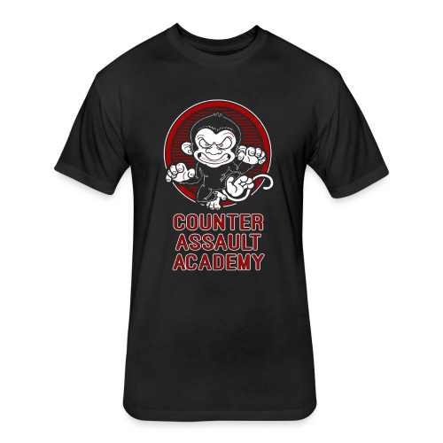Counter Assault Academy ANGRY monkey - Fitted Cotton/Poly T-Shirt by Next Level