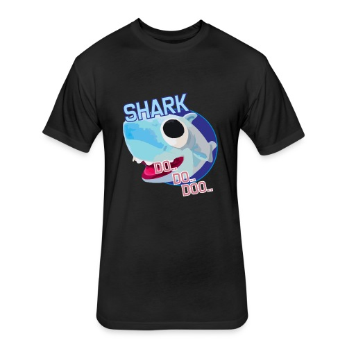 SHARK DO DOOO - Fitted Cotton/Poly T-Shirt by Next Level