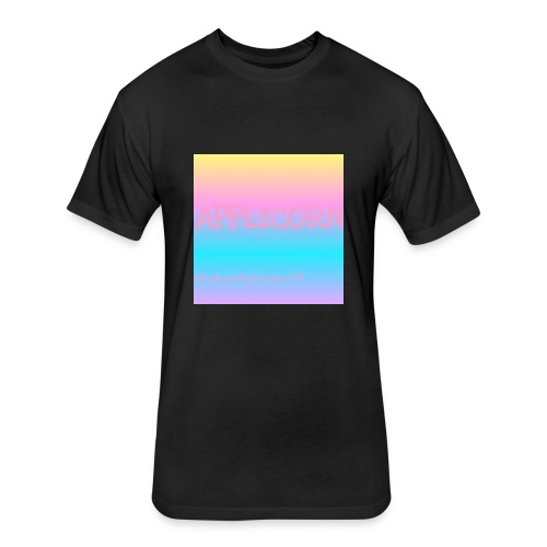 Colorful applicorn shirts - Fitted Cotton/Poly T-Shirt by Next Level
