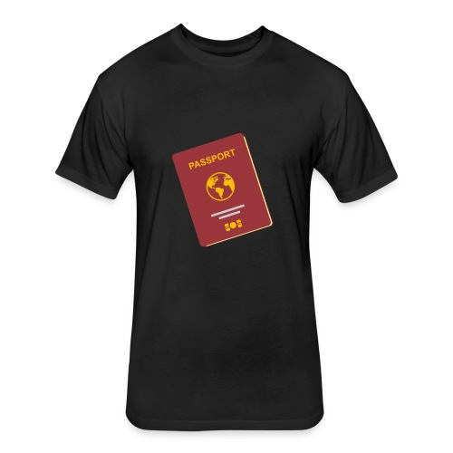 passport travel icon by Travel4hlidays - Fitted Cotton/Poly T-Shirt by Next Level