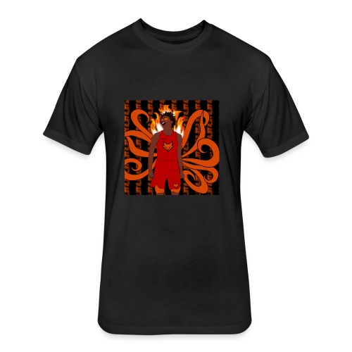 De'aaron Fox Nine Tails - Fitted Cotton/Poly T-Shirt by Next Level