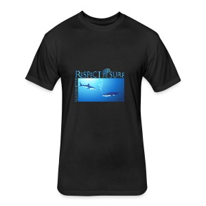 Respect The Shark - Fitted Cotton/Poly T-Shirt by Next Level