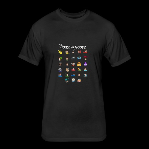 Emote List - Fitted Cotton/Poly T-Shirt by Next Level