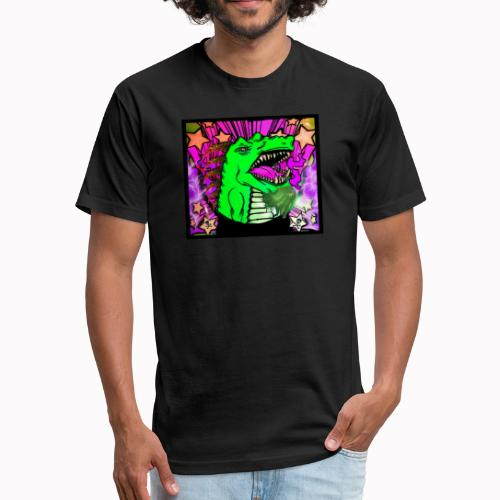 Groovy dragon - Fitted Cotton/Poly T-Shirt by Next Level
