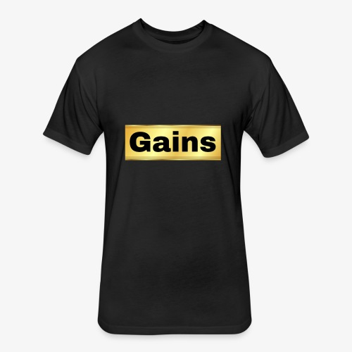 gold gains - Fitted Cotton/Poly T-Shirt by Next Level