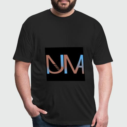 Numa Logo black background - Fitted Cotton/Poly T-Shirt by Next Level