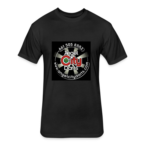 logo on black - Fitted Cotton/Poly T-Shirt by Next Level