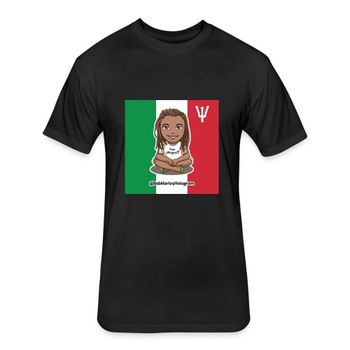 Bob Marley Hologram - Fitted Cotton/Poly T-Shirt by Next Level