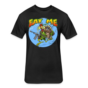 Eat Me Turkey - Fitted Cotton/Poly T-Shirt by Next Level