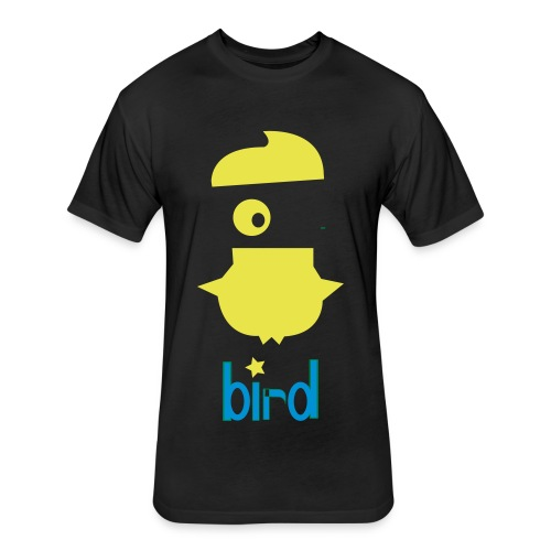crazy bird - Fitted Cotton/Poly T-Shirt by Next Level