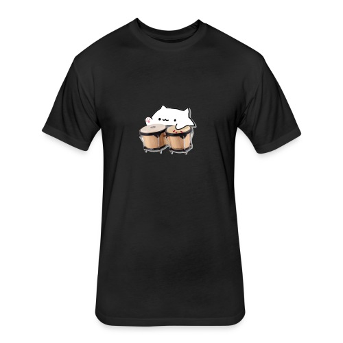 Funny Bongo cat t-shirt & more meme - Fitted Cotton/Poly T-Shirt by Next Level