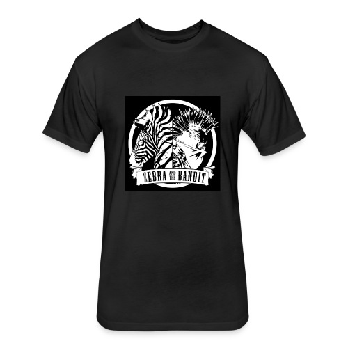 Black Logo Design - Fitted Cotton/Poly T-Shirt by Next Level