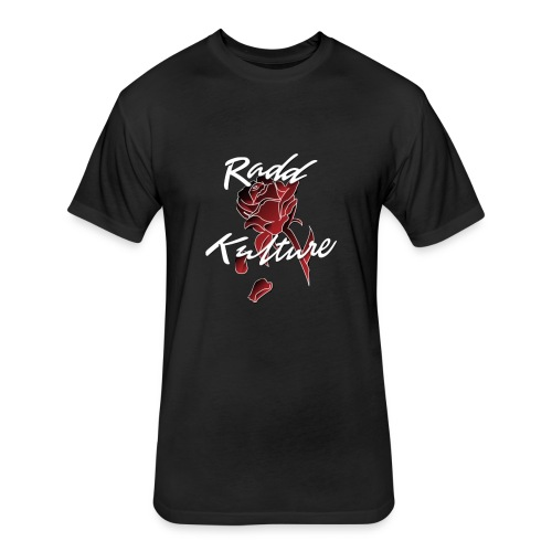 Official Red RaddKulture Logo Tops - Fitted Cotton/Poly T-Shirt by Next Level