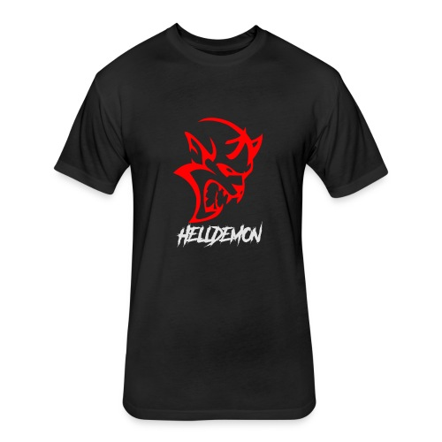 HELLDEMON - Fitted Cotton/Poly T-Shirt by Next Level