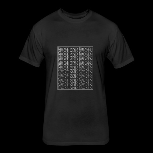 Broke and Broken Multi Drop - Fitted Cotton/Poly T-Shirt by Next Level