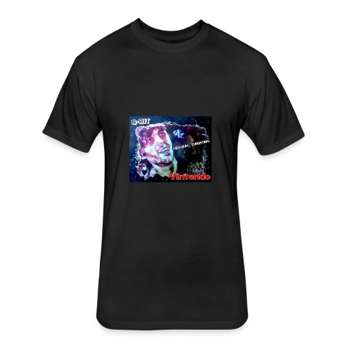8-Bit Vintendo Space Thrusting - Fitted Cotton/Poly T-Shirt by Next Level