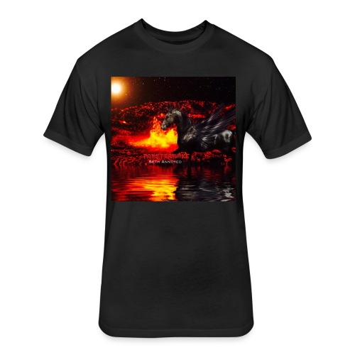Monsterquake Seth Annoyed Album Coverart - Fitted Cotton/Poly T-Shirt by Next Level