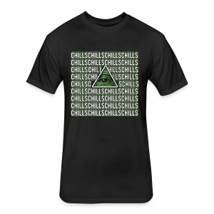 Illuminati Chills - Fitted Cotton/Poly T-Shirt by Next Level