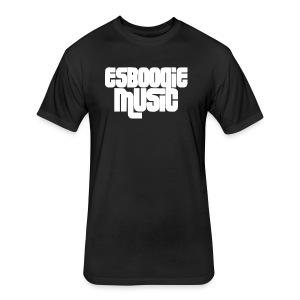 ESBOOGIEMUSIC WHITE LOGO - Fitted Cotton/Poly T-Shirt by Next Level