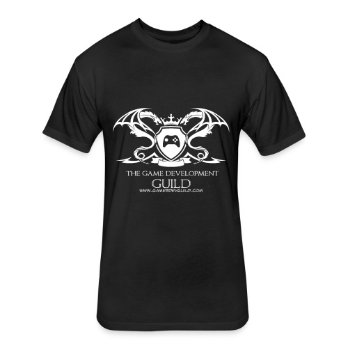 White Game Development Guild Crest - Fitted Cotton/Poly T-Shirt by Next Level