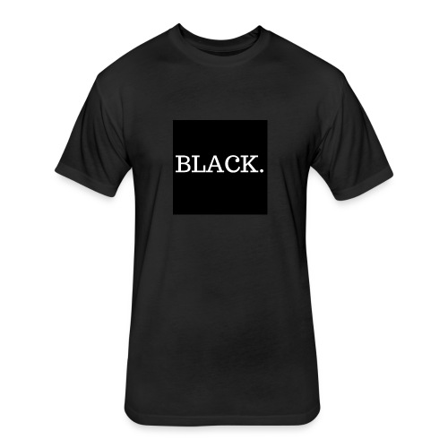 BLACK - Fitted Cotton/Poly T-Shirt by Next Level