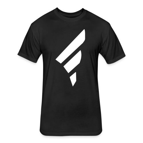 FraggedOutt White Logo T-Shirt - Fitted Cotton/Poly T-Shirt by Next Level