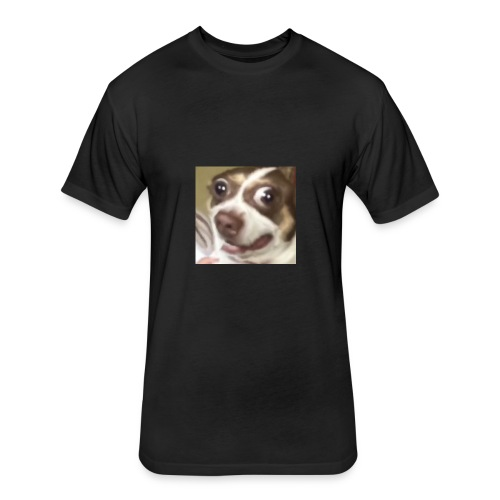 cute dog - Fitted Cotton/Poly T-Shirt by Next Level