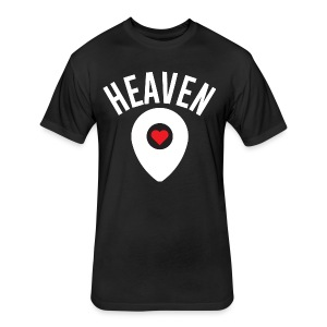 Heaven Is Right Here - Fitted Cotton/Poly T-Shirt by Next Level