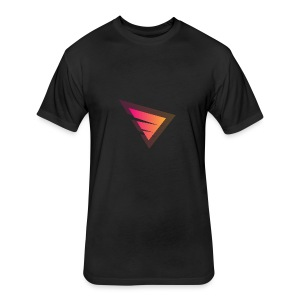 Logo IteX with another background logo - Fitted Cotton/Poly T-Shirt by Next Level