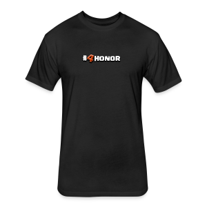 4honor red - Fitted Cotton/Poly T-Shirt by Next Level
