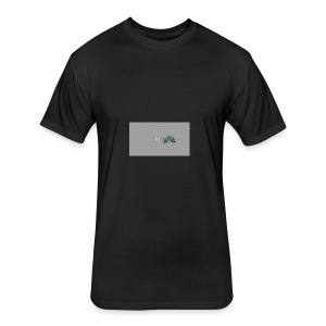 backgrounder-3- - Fitted Cotton/Poly T-Shirt by Next Level
