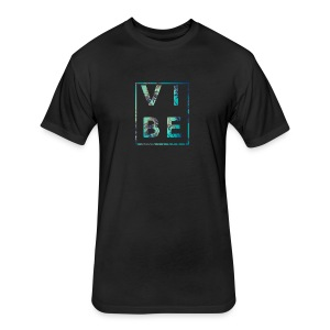 Palm Tree Vibe - Fitted Cotton/Poly T-Shirt by Next Level
