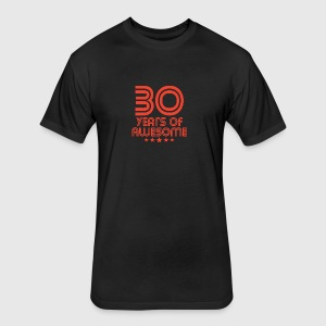 30 Years Of Awesome 30th Birthday - Fitted Cotton/Poly T-Shirt by Next Level